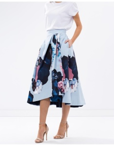 Nicholas Painted Floral Ball Skirt